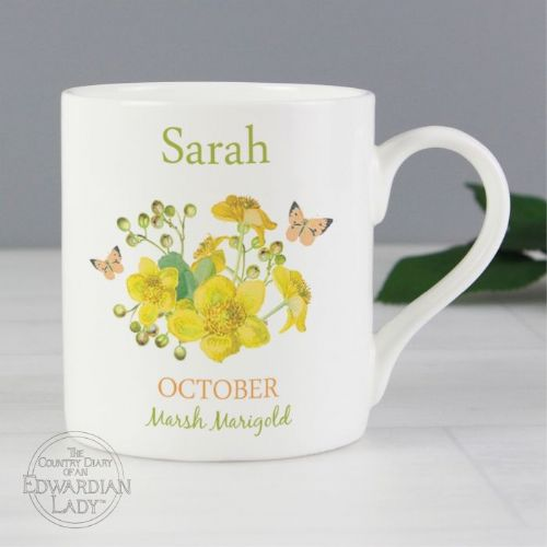 Country Diary 'October Flower Of The Month' Balmoral Mug